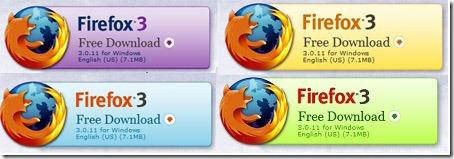 Firefoxバナー色