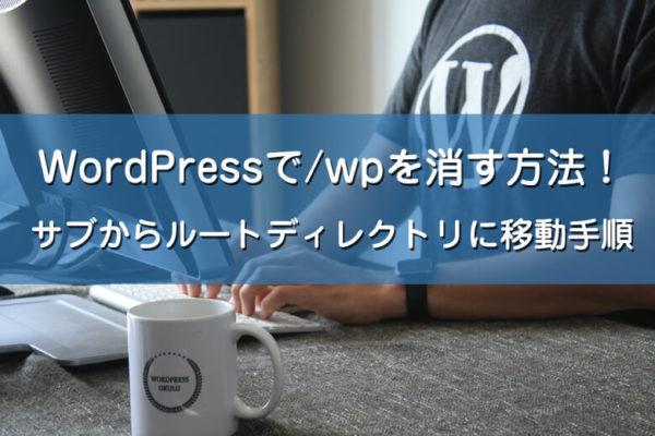 ワードプレスでURLの/wpを消す方法!サブからルートディレクトリに移動