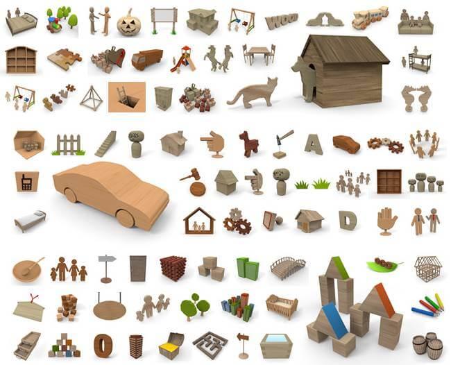 木の素材フリーイラスト