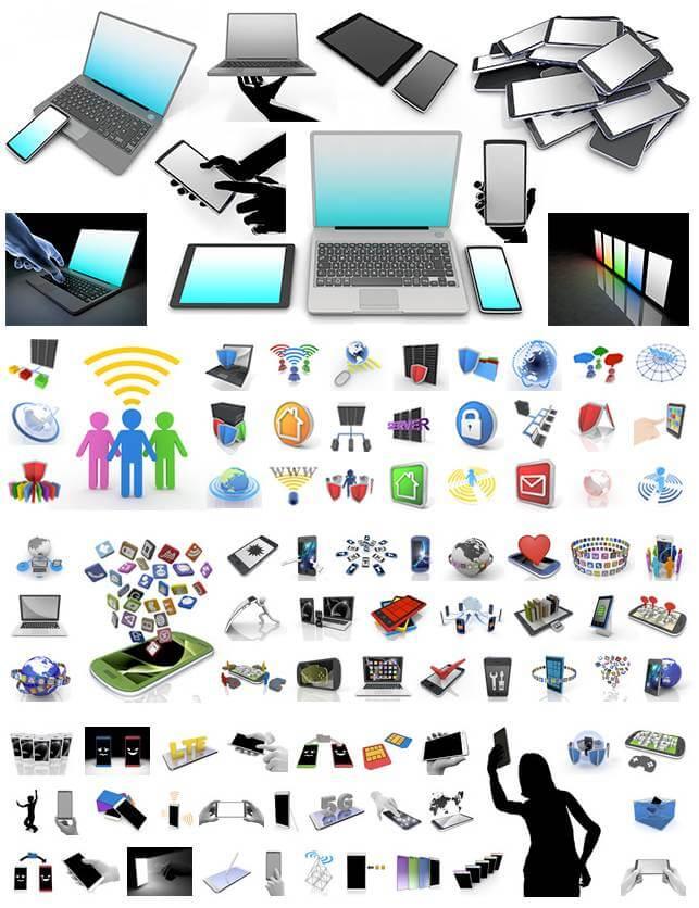 無料で使えるイメージ素材|インターネット|モバイル