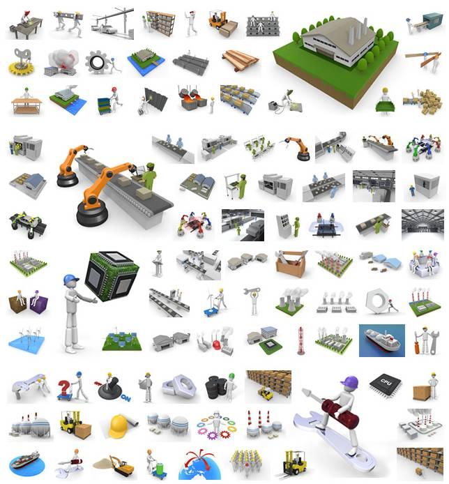 産業・工場・製造業イラスト素材