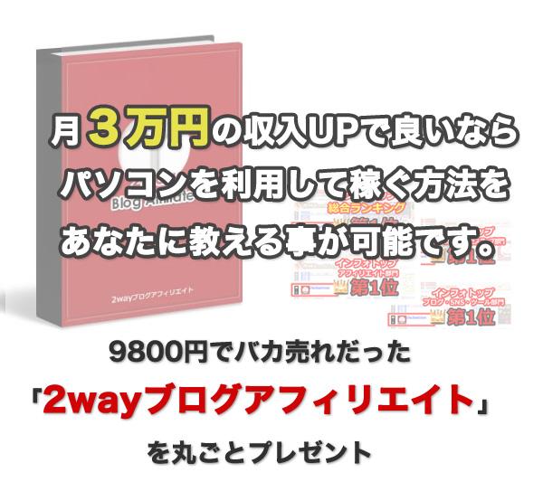 2wayブログアフィリエイト製品版【有料教材が無料!】