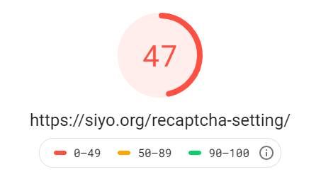 reCAPTCHAの表示速度